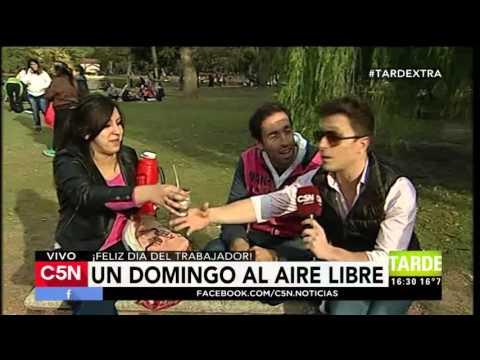 C5N - Tarde Xtra: Tito pasa una tarde de domingo en la plaza (Parte 1)