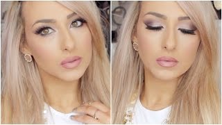 Date night makeup tutorial - Soft pink and purple valentines day look