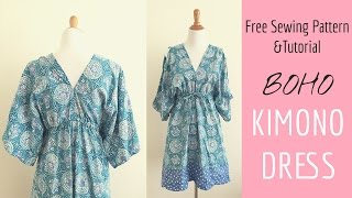 Boho Kimono Dress Sewing Tutorial