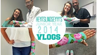 cast on, cast off && the preppy cripple  | junior year vlogs