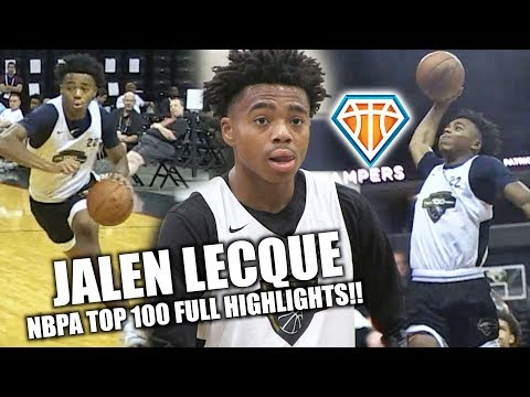 Jalen Lecque GETS BUCKETS at NBPA Top 100 This Year!! | Athletic PG Makes a STATEMENT