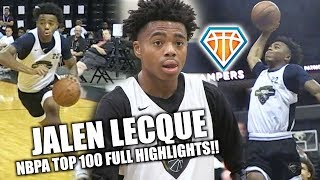 jalen lecque gets buckets at nbpa top 100 this year athletic pg makes a statement