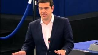 tsipras opening speech at the eu parliament strasbourg english
