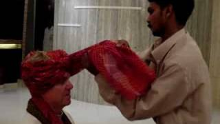 Repeat youtube video Turban Wrapping - Dad at the Wedding in India