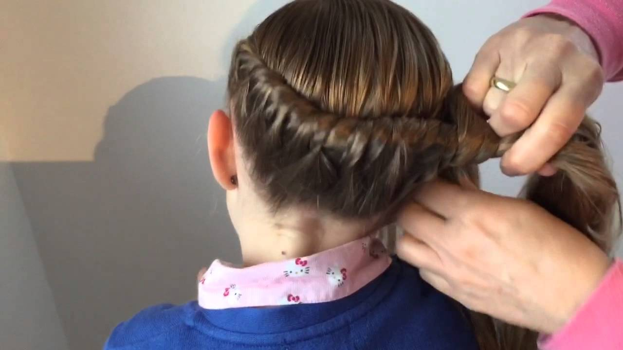 Gewickelter Zopf Frisur Für Mädchen💗Flechtfrisur Weihnachten