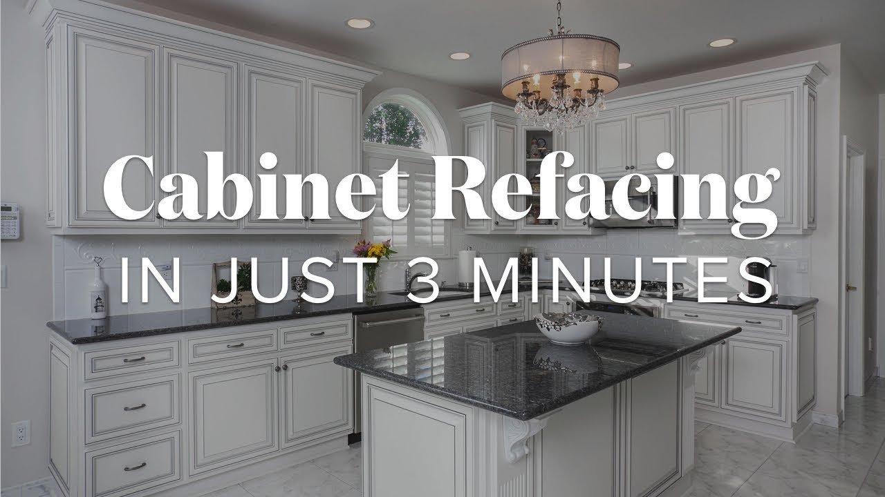 Cabinet Refacing In Just 3 Minutes Youtube