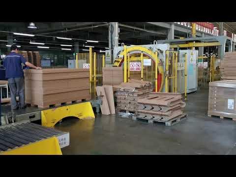 Упаковка мебели на производстве, весь цикл.