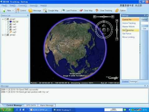 Track Car/vehicle Or Person On A PC With Free Google Maps , EX300 GPS Tracking Software.avi