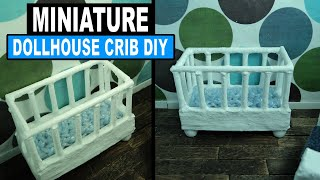 Doll Crafts | How To Make A Dollhouse Crib