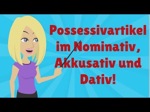 Deutsch Lernen Mit Dialogen / Lektion 58 / Possessivartikel Im Nominativ, Akkusativ Und Dativ