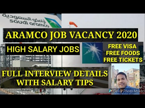 ARAMCO JOB VACANCY 2020,Aramco high salary jobs saudi arabia