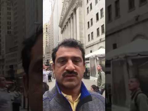 US visit at Wall Street, New York