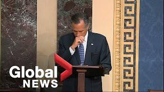 Trump impeachment trial: Mitt Romney breaks ranks with Republicans
