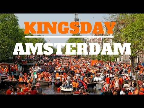 King's Day In Amsterdam   Walking Tour of Amsterdam, The Netherlands (HQ)