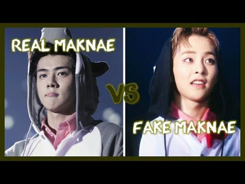 KPOP REAL MAKNAE VS FAKE MAKNAE