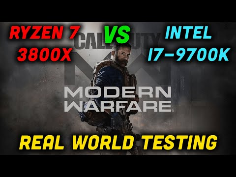 Ryzen 7 3800X Vs I7-9700K — RX 5700 XT Vs RTX 2070 Super — COD Modern Warfare — Real World Testing