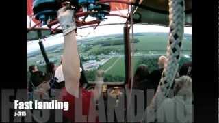 Fast landing (2011) in a 12 passengers hot air balloon