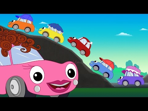 Thumbnail: Five Little Cars Song + Baby Car Pom Pom + Baby Car Videos + Nursery Songs Compilation by FunForKids