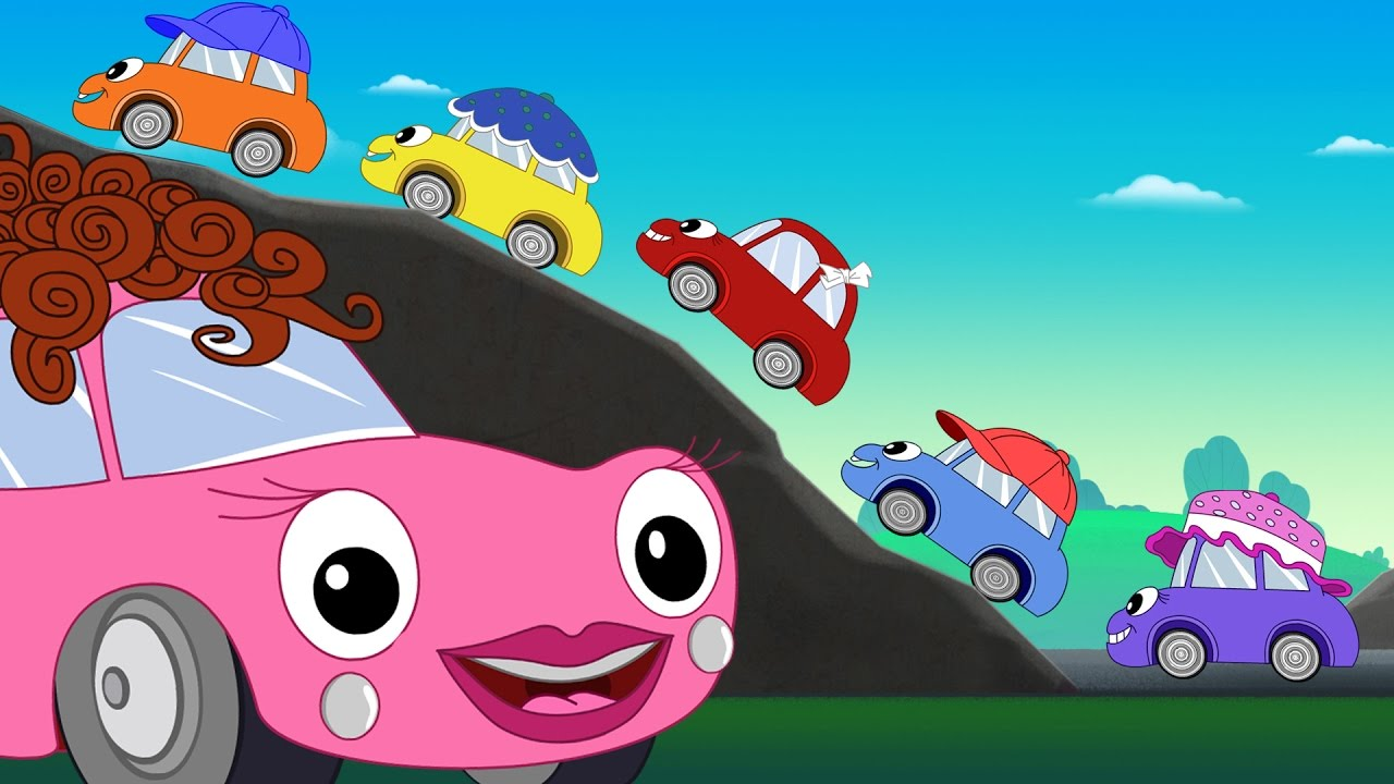 five little baby cars song