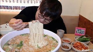 Let's eat huge meat noodles in 20 minutes ! Free Jeju Island if you eat the fastest MUKBANG