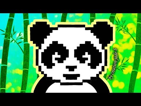 Tuto Pixel Art Panda Zen Kawaii H23 X L30