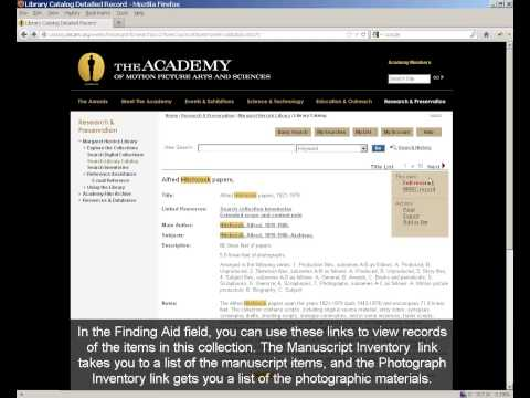 How to Search the Academy's Library Catalog