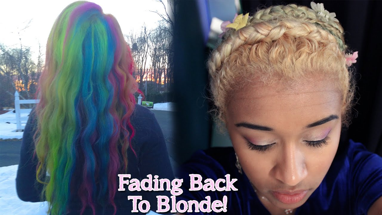 How To Get Back To Blonde Hair After Dying It With Semi or ...
