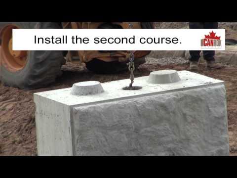 Canrok Retaining Walls/Orangeville PreCast Concrete/RAM Media Video
