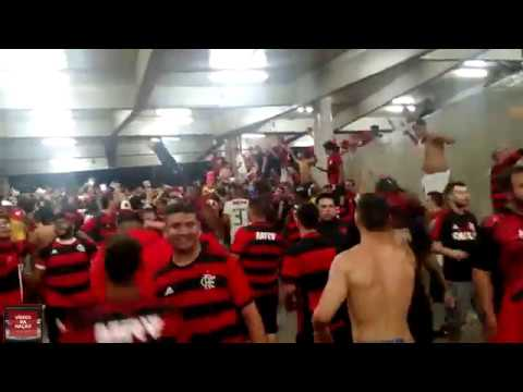 SUPER DESCIDA DA TORCIDA DO FLAMENGO - CLASSIFICADO PRA SEMI FINAL DA COPA DO BRASIL