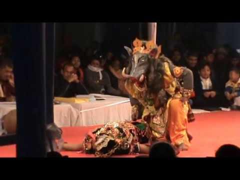 "PART OF BHAONA (ভাওনা) - "" NRI SINGHA MURARI "" AT CHALIHA NAGAR , TINSUKIA , ASSAM"