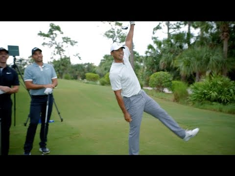 Tiger & Rory vs. DJ, Day & Rahm in Straightest Drive Contest LONG CUT! | TaylorMade Golf