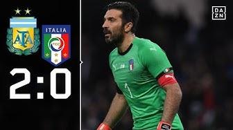 Gianluigi Buffon mit Comeback: Argentinien - Italien 2:0 | Highlights | Länderspiele | DAZN