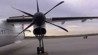 Eurolot Bombardier Q400 NextGen taxing & take-off FRA Airport 23.09.2012 Frankfurt/Main Germany (HD)