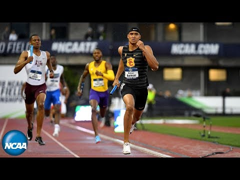 USC men's record-setting 4x400m relay in 2018 NCAA Championships