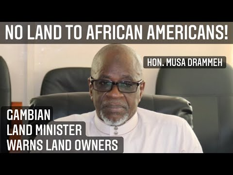 """AFRICAN AMERICAN LAND GRABBERS""GAMBIAN GOVERNMENT SNAPS BACK! #gambia #gambiadrama #gambianews"