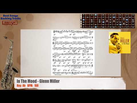 In The Mood - Glenn Miller MELODY Guitar Backing Track with chords and lyrics