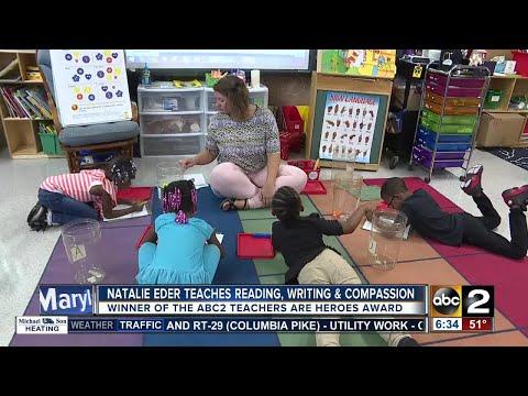 Natalie Eder of Halstead Academy is the September winner of the ABC2 Teachers Are Heroes award