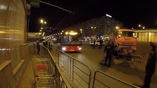 Как болельщики покидали закрытый район  Казань Арены