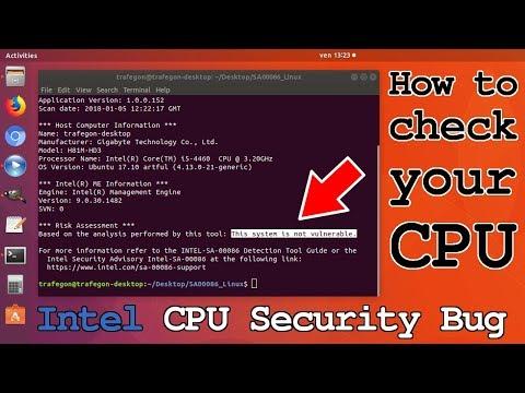 Intel CPU Security Bug • Check Vulnerability Meltdown Spectre