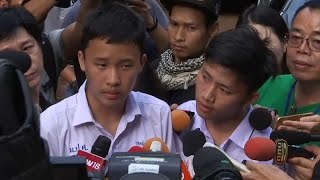 Classmates of trapped Thai boys visit cave