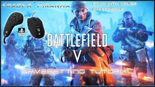 BATTLEFIELD V GAMESETTINGS - FRAGFX PIRANHA PS4 🖱️ - Sony officially licensed