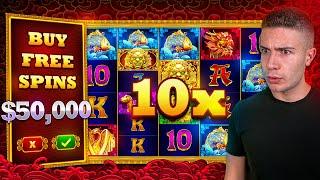 $50,000 Bonus Buy on 5 LIONS MEGAWAYS 🏮 (50K Bonus Buy Series #19)