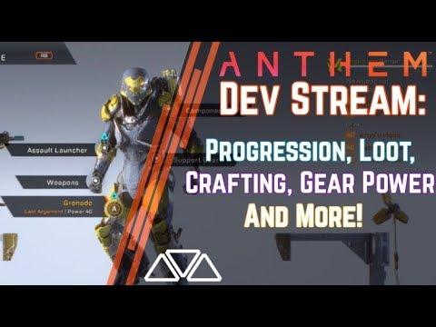 Anthem Developer Livestream: Loot, Gear Level, Crafting, Progression & More!