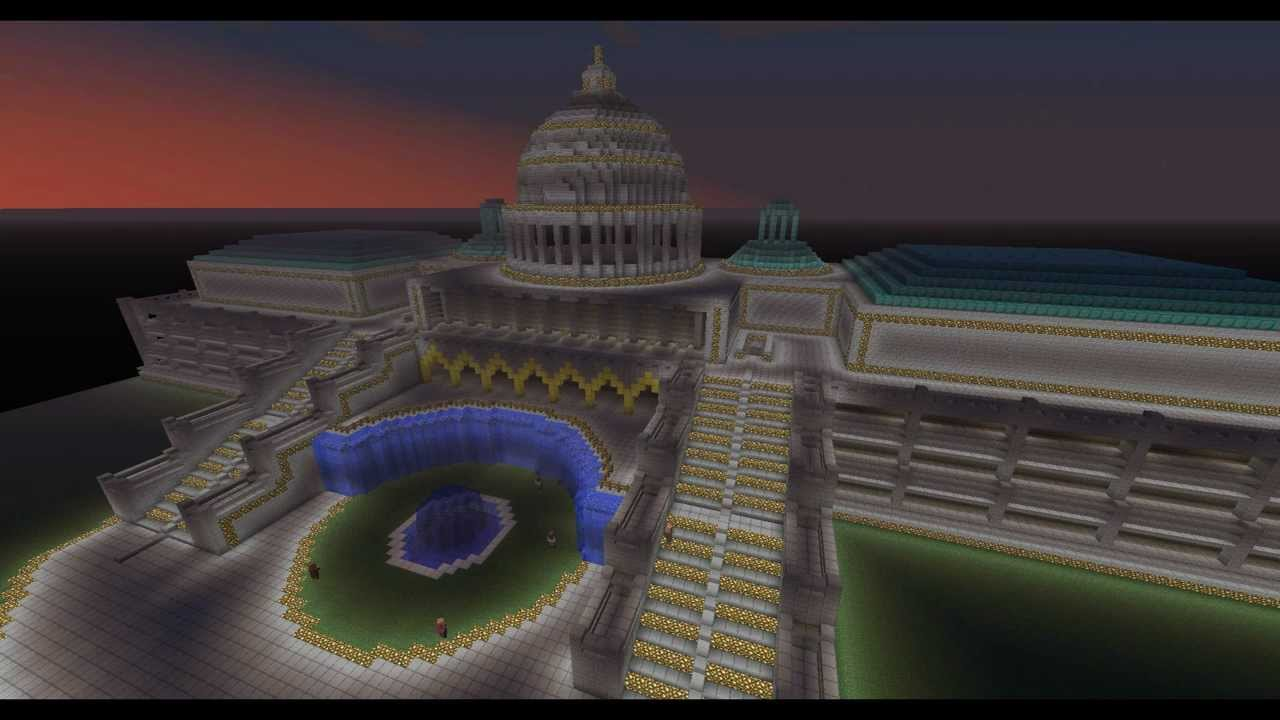 Minecraft Epic Build US Capitol YouTube - Minecraft us capitol map
