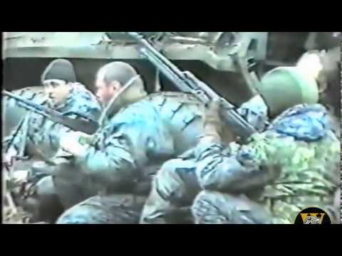 The war in Chechnya, Russian troops in Grozny 1996