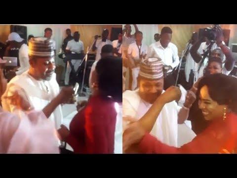 Saidi Balogun Sprays Fathia Balogun Money Non Stop At Mercy Aigbe Birthday Party