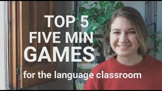 Top 5 Five Minute Games For English Class