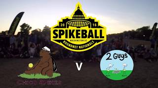 Spikeball Nationals 2016 Chico Spikes v. 2 Guys Highlights