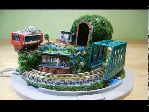 スイッチバック箱根登山鉄道模型小形ジオラマ Switchback Z scale train Diorama