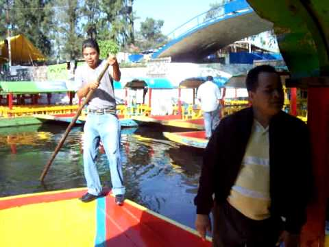 Boat ride on the canals of Xochimilco, Mexico
